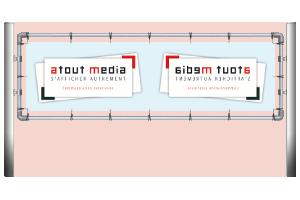 Dispositif porte bannière pour affichage publicitaire toile tendue (Eurométropole de Lille)