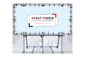 Dispositif portatif pour affichage publicitaire toile tendue (Eurométropole de Lille)