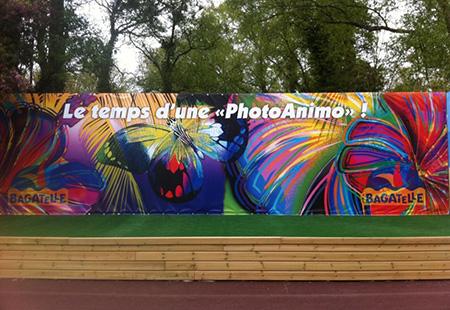 Affichage permanent sur toile tendue près de Lille-Courtrai-Tournai (Eurométropole)